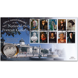 2006 National Portrait Gallery Coin Cover - Trafalgar 200th IoM Coin