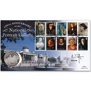 2006 National Portrait Gallery Coin Cover Signed Andrew Tift