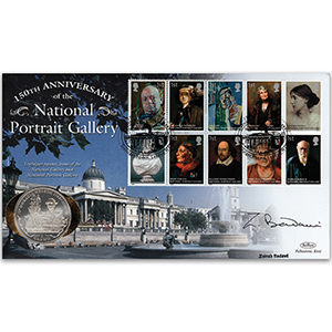 2006 National Portrait Gallery 150th Coin Cover - Signed by Zeinab Badawi