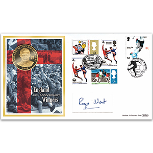 2006 World Cup Winners 40th - Roger Hunt Coin Cover - Signature Features