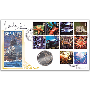 2007 Sea Life Coin Cover Signed Kate Humble