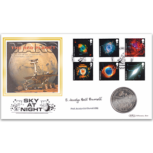 2007 Sky at Night Coin Cover - Signed Professor J. B. Burnell CBE