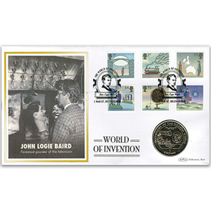 2007 World of Invention Coin Cover - Helensburgh