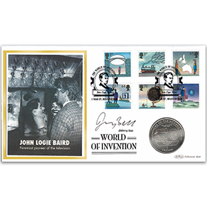 2007 World of Invention Coin Cover - Signed Johnny Ball