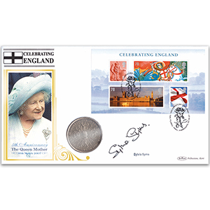 2007 Celebrating England M/S Coin Cover - Signed by Sylvia Syms