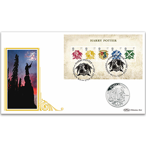 2007 Harry Potter M/S Coin Cover - Isle of Man Harry Potter Crown Coin