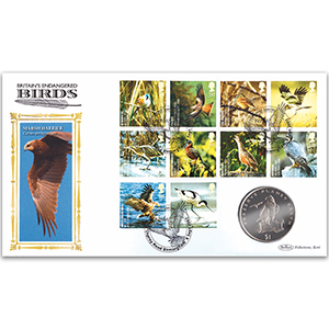 2007 Endangered Birds Coin Cover