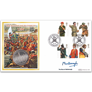 2007 British Army Uniforms Coin Cover Signed Duke of Marlborough