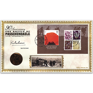 2007 Lest We Forget M/S Coin Cover - Signed by Earl Kitchener