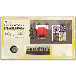 2007 'Lest We Forget' M/S Coin Cover - Signed by Richard van Emden