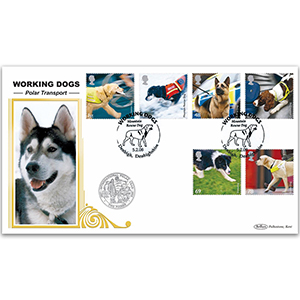 2008 Working Dogs Stamps Coin Cover