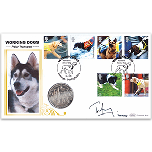 2008 Working Dogs Coin Cover - Signed by Tom Avery
