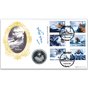 2008 SOS Rescue at Sea Coin Cover - Signed by Admiral Sir Jock Slater