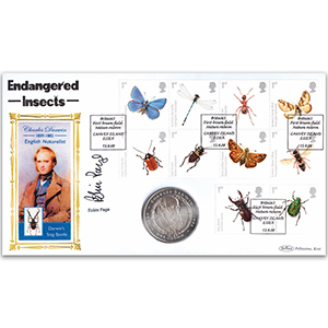 2008 Insects Coin Cover - Signed Robin Page