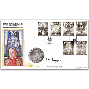 2008 Cathedrals Stamps Coin Cover - Signed Peter Jennings