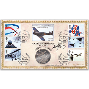 2008 Air Displays Coin Cover - Signed by Sqn. Ldr. Al Pinner MBE