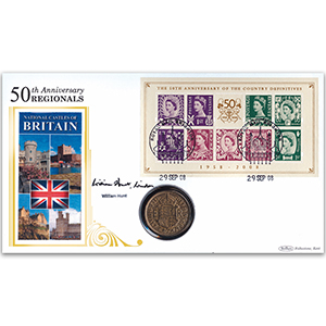 2008 Country Definitives M/S Coin Cover - Signed by William Hunt