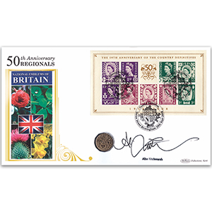 2008 Country Definitives 50th M/S Coin Cover - Signed by Alan Titchmarsh