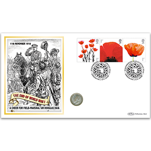 2008 Lest We Forget Se-tenant Coin Cover