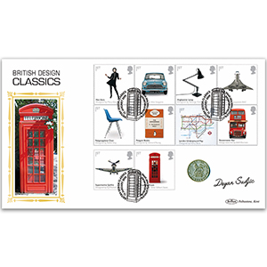 2009 British Design Classics Stamps Coin Cover - Signed by Deyan Sudjic