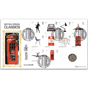 2009 Design Classics Stamps Coin Cover - Signed Deyan Sudjic