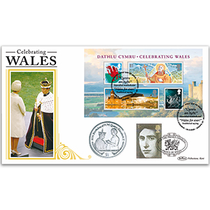 2009 Celebrating Wales M/S Coin Cover