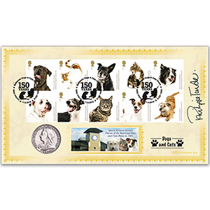 2010 Battersea Dogs & Cats Home Coin Cover - Signed by Philippa Forrester