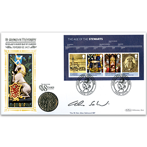 2010 House Of Stewart M/S Alt Coin Cover - Signed by The Rt. Hon. Alex Salmond MP