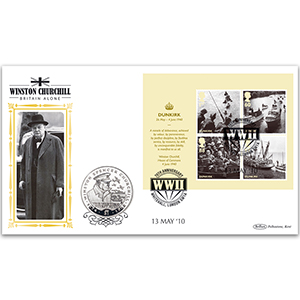 2010 Britain Alone M/S Coin Cover - Sir Winston Churchill $1 Coin