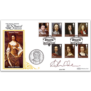 2010 House of Stuarts Coin Cover - Signed Alison Weir
