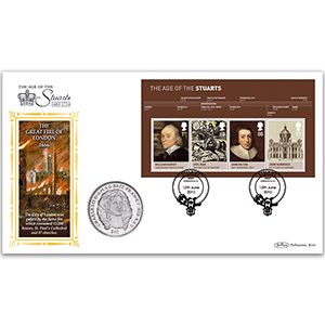 2010 House Of Stuarts M/S Coin Cover