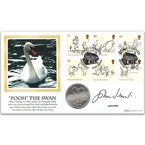 2010 Winnie the Pooh Stamps Coin Cover - Signed by John Hurt