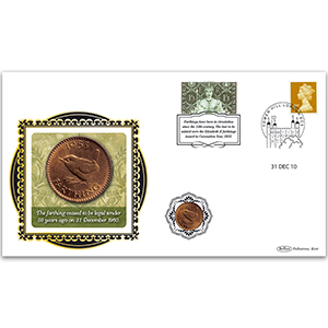 2010 Farthing 50th Special Coin Cover - 1953 Farthing