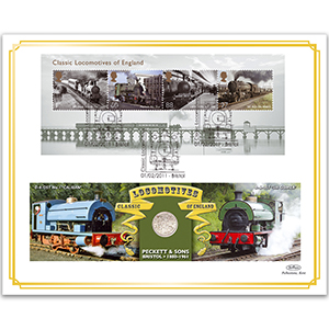 2011 Classic Locomotives of England M/S Coin Cover