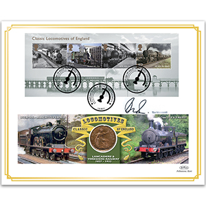 2011 Classic Locomotives of England M/S Coin Cover - Signed by Tim Wonnacott