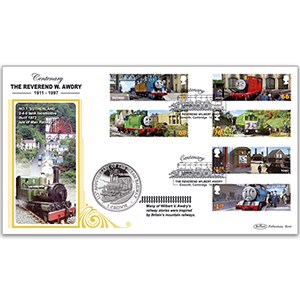 2011 Thomas the Tank Engine Stamps Coin Cover