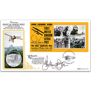 2011 Aerial Post M/S Coin Cover - Signed by Barbara Dickson OBE