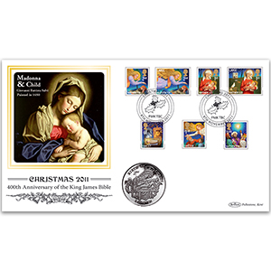 2011 Christmas Coin Cover - Isle of Man 'Birth of Christ' Crown Coin