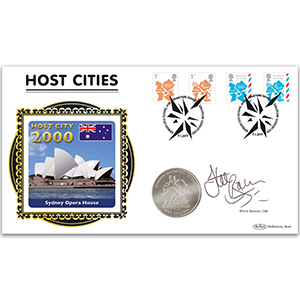 2012 London Olympic and Paralympic Games Definitives Coin Cover - Signed Steve Backley OBE