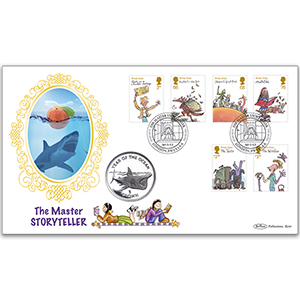 2012 Roald Dahl Stamps Coin Cover