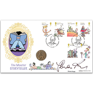 2012 Roald Dahl Stamps Coin Cover -  Signed by Steven Pacey
