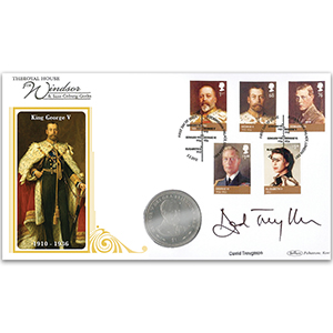 2012 House of Windsor Stamps Coin Cover - Signed David Troughton