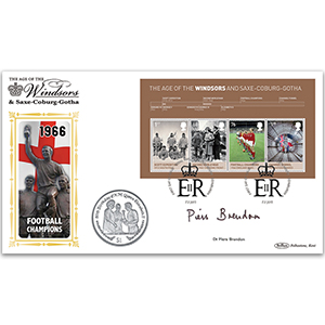 2012 House of Windsor M/S Coin Cover - Signed by Dr. Piers Brendon