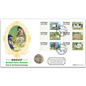 2012 Post & Go Sheep Coin Cover