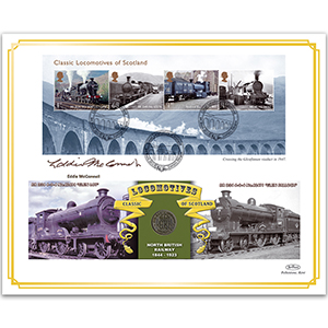 2012 Classic Locomotives of Scotland Coin Cover - Signed Eddie McConnell