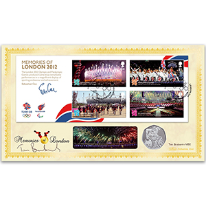 2012 Olympic/Paralympic Memories of London M/S Coin Cover - Signed by Tim Brabants MBE
