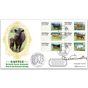 2012 Post and Go Cattle Coin Cover - Signed by Christopher Timothy