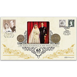 2012 65th Wedding Anniversary of HM The Queen and Prince Philip Special Coin Cover