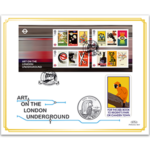 2013 London Underground 150th Anniversary M/S Coin Cover