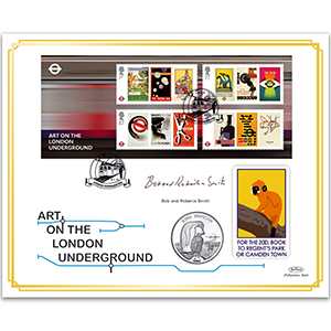2013 London Underground 150th Anniversary M/S Coin Cover - Signed Bob & Roberta Smith